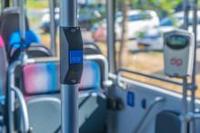 Stop Button On A Dutch Bus
