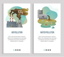 Air Pollution Vector, Water Wa...