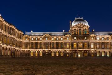 Louvre Museum of Paris at night