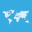Vector 3d World Map over Blue Background