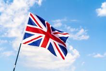 United Kingdom Flag Waving On ...