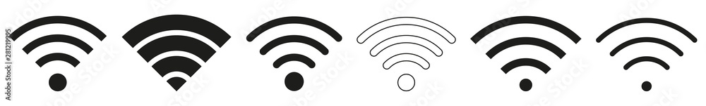 Fototapety, obrazy: Wireless | Internet Connection | Signal Icon | Variations