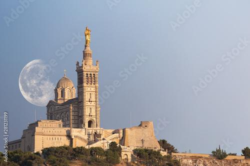 Fototapeta Marseille basilique Notre Dame de la Garde obraz