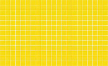 Yellow Square Ceramic Tile Wall Texture Background. Panoramic Image Of Yellow Tile Wall.