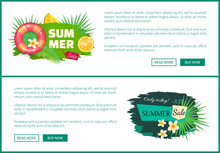 Summer Sale Posters Set With T...