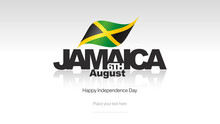 Jamaica Independence Day Flag Logo Icon Banner