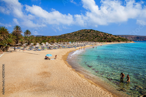 Photo sur Aluminium Cote Vai beautiful beach. Crete, Greece.