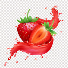 Strawberry 3d Realistic Transp...