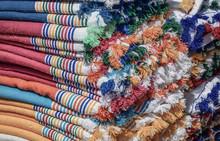 Heap Of Colorful Cotton Clothe...