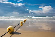 Mediterranean Beach With Yello...