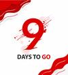 Nine days to go. vector typography logotype illustration