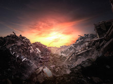Apocalypse Rubble At Sunset - ...