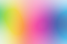 Colorful Gradient Mesh Background In Bright Rainbow Colors. Abstract Smooth Blurred Texture.
