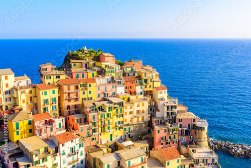 Colorful houses in Manarola Village in Cinque Terre National Park Poster Mural XXL