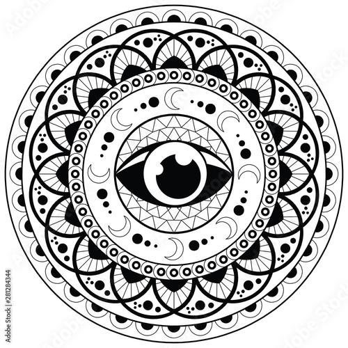 Mandala Coloring Page For Adult Relaxation Mandala Design