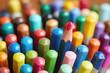 Leinwanddruck Bild - Full Frame Shot Of Multi Colored Pencils