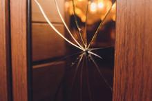 Broken Glass Black Door Of The...