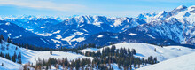Panorama Of Snowy Zwieselalm A...