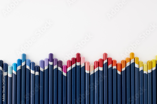 Obraz Arrangement of colored pencils - fototapety do salonu