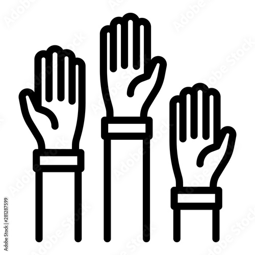 Photo  Hands of charity icon