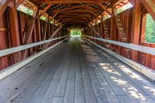 Inside Rupert Covered Bridge