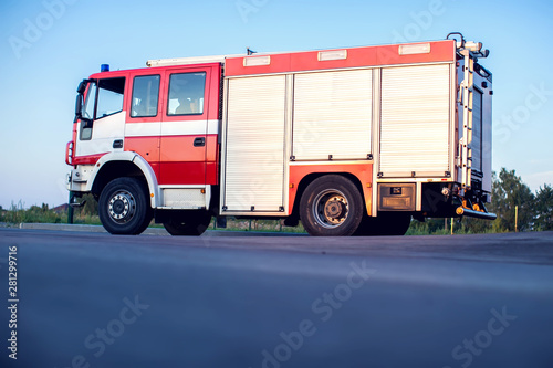 Fotografía Fire engine stay in the fire department and ready for challenge