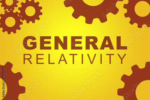 GENERAL RELATIVITY concept Fototapet