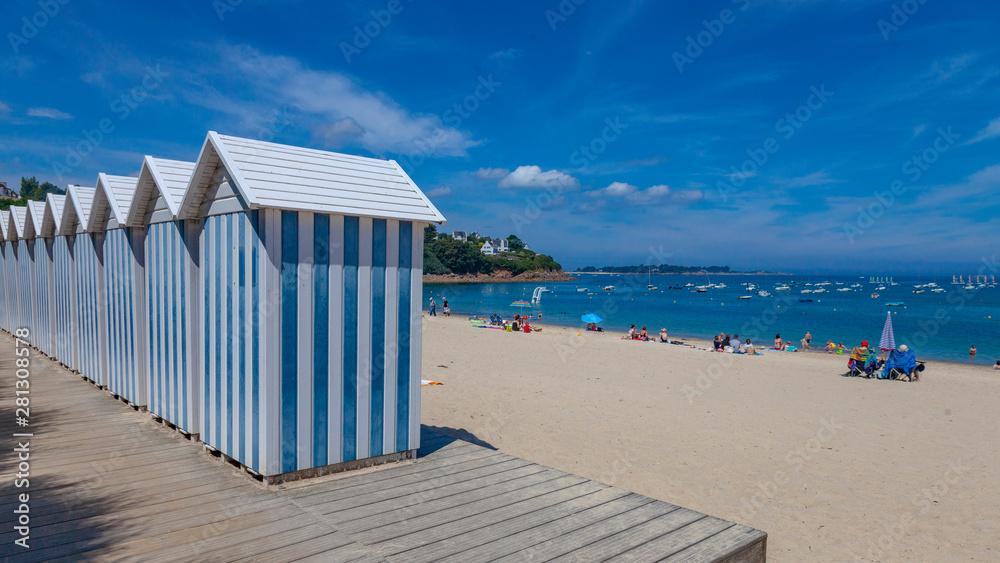 Fototapety, obrazy: Cabanes de plage