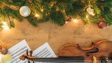 Weihnachtliche Violine