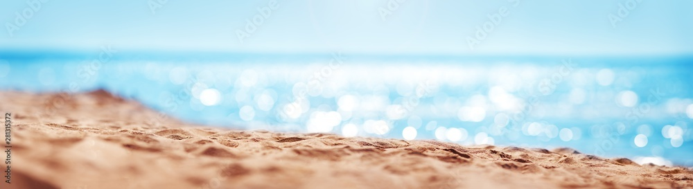 Fototapety, obrazy: Blurred sea backgroundBlurred sea background with beautiful bokeh