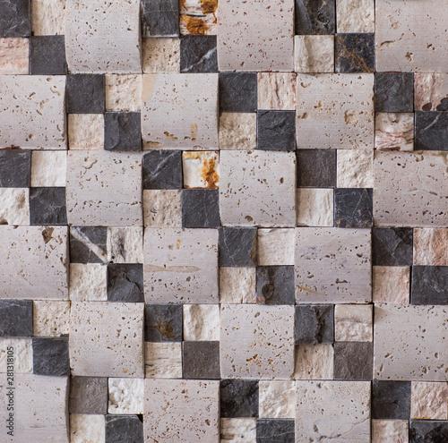 kitchen seamless wall mosaic stone tile - Buy this stock