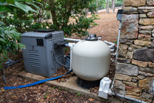 Home Pool Pump Equipment For Filtering And Maintaining Clean Water