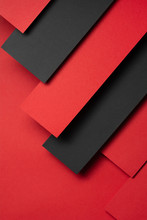 Red And Black Paper Design