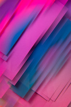 Blue And Pink Geometric Shapes. Abstract Photo.