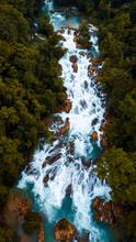 Beautiful Waterfall Near Jungle
