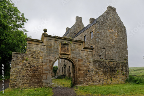 Midhope Castle (Lallybroch) - Near Edinburgh, Scotland, UK Wallpaper Mural