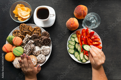 Fotografija  Nutrition choices concept, motivation and healthy lifestyle