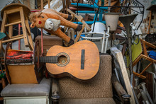 Old Vintage Objects And Antiques For Sale At The Flea Market