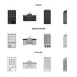 Vector design of municipal and center icon. Collection of municipal and estate stock vector illustration.