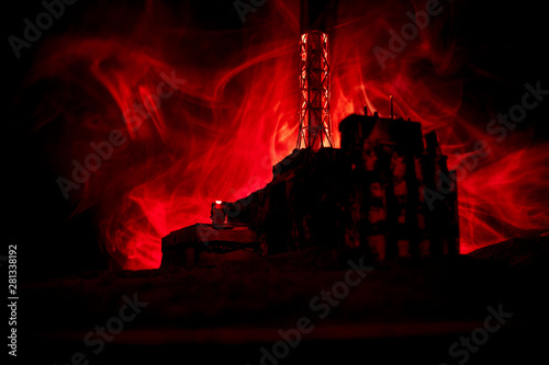 power plant layout fire red creative artwork decoration chernobyl nuclear power plant at  chernobyl nuclear power plant