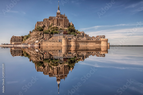 Mont Saint Michel, an UNESCO world heritage site in Normandy, France Canvas