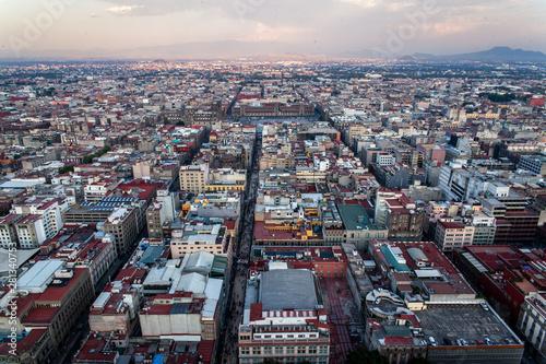 Fotografie, Obraz  Vue de Mexico du haut de la tour Latino America
