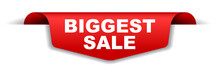 Red Vector Banner Biggest Sale