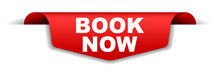 Red Vector Banner Book Now