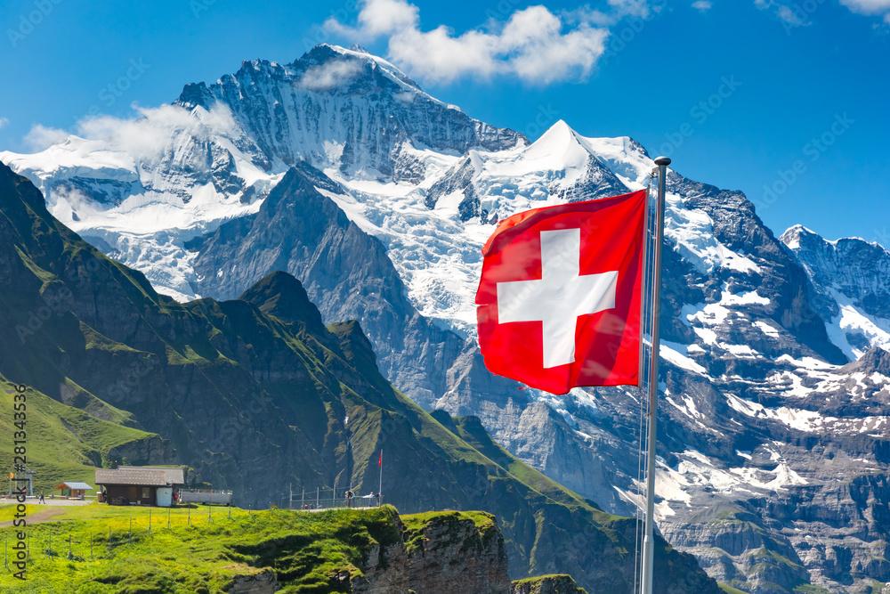 Fototapeta Mannlichen viewpoint, Switzerland