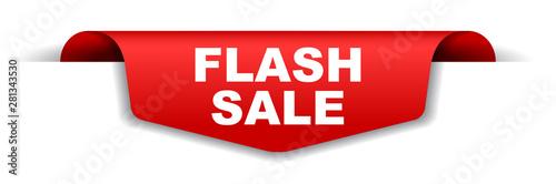 Obraz red vector banner flash sale - fototapety do salonu