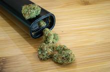 Cannabis Buds And A Vaporizer