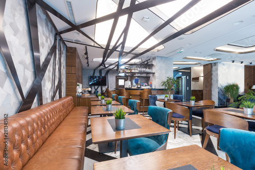 Interior of a modern hotel lounge cafe bar restaurant - Buy ...