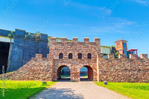 Vászonkép Mamucium - a former Roman fort in Castlefield area, Manchester, UK