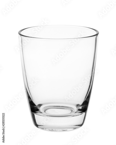 Canvas Prints Alcohol Empty clean drinking glass cup isolated on white background. With clipping path.